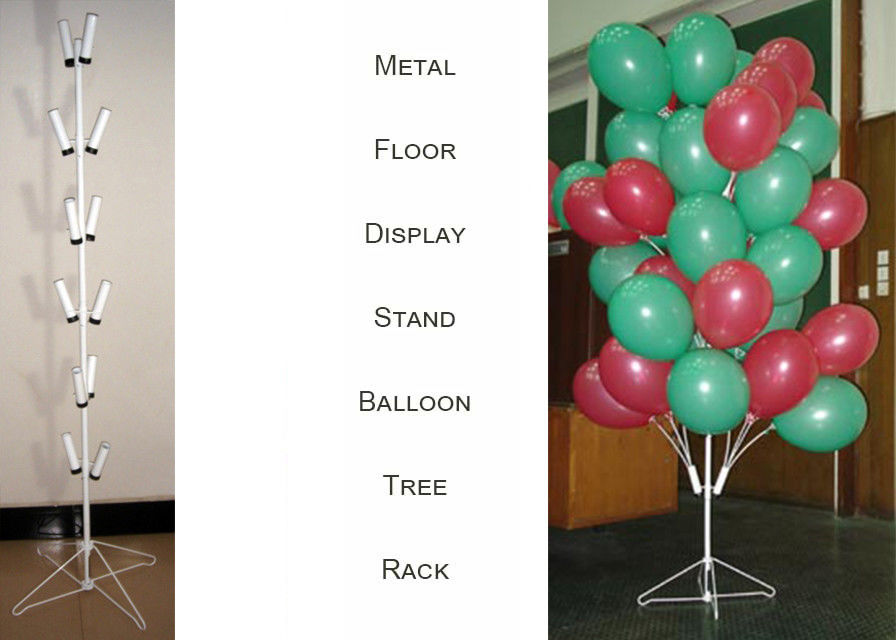 Balloons Tree Metal Display Floor Stands with Wire Foldable Base / 8 PairsTubular Holder Balloon Metal Display Racks